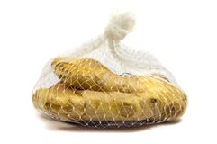 Ginger packed in net bag Stock Image