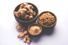 Ginger paste / puree or powder / sunth / sonth, selective focus Stock Image