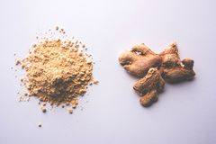 Ginger paste / puree or powder / sunth / sonth, selective focus Royalty Free Stock Images