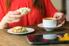 Ginger pastry coffee break Royalty Free Stock Image