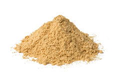 Ginger Powder. Heap of ginger powder isolated on white background Stock Photo