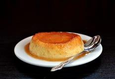 Ginger Pumpkin Flan (Creme Caramel) Royalty Free Stock Photography