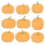 Ginger Pumpkins op een Witte Achtergrond Stock Foto