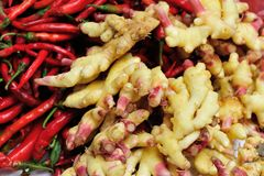 Ginger and red chili Stock Photo