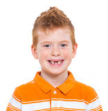 Ginger red hair boy Stock Photos