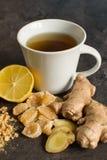 Ginger roo and lemon tea stock images