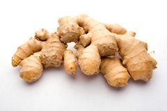 Ginger root. A bunch of ginger root isolated on white Stock Images