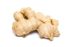 Ginger root isolated on white background Stock Photos