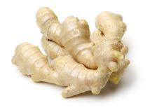 Ginger root. Isolated on white background stock photo