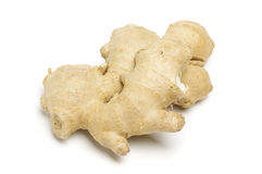 Ginger root isolated on the bright background Royalty Free Stock Photos