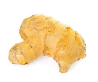 Ginger Root Isolated on White Background Stock Photo