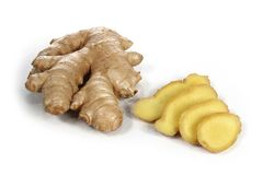 Ginger root isolated on a white background stock photography