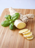 Ginger root sliced Royalty Free Stock Photography