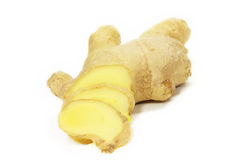 Ginger root. Sliced  close up Royalty Free Stock Images