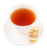 Ginger Root Slices en een Kop thee II Stock Fotografie