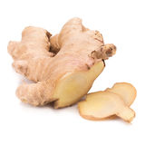 Ginger root slices isolated on white background Royalty Free Stock Image