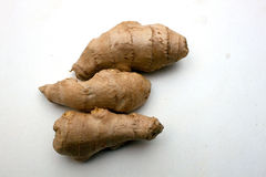Ginger root. On white background Stock Photo