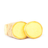 Ginger root on white background. Stock Photo