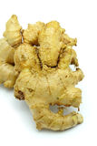 Ginger Root on White Background Stock Photo