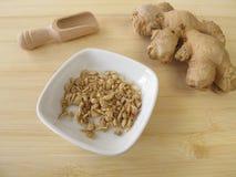 Ginger root, Zingiberis rhizome Stock Photo