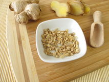 Ginger root, Zingiberis rhizome Royalty Free Stock Photography