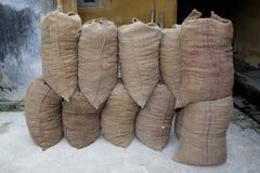 Ginger Sacks. Awaiting collection, Fort Kochi, India Stock Image