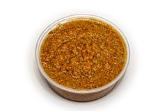 Ginger Sauce in container royalty-vrije stock afbeeldingen