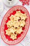 Ginger Shortbread Stars met Heemst het Vullen Royalty-vrije Stock Foto's