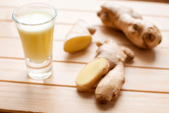Ginger shot Stock Photography