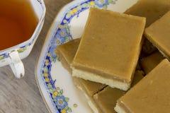 Ginger Slice con té Fotos de archivo libres de regalías
