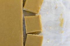 Ginger Slice Cut en el papel de la hornada Fotos de archivo libres de regalías