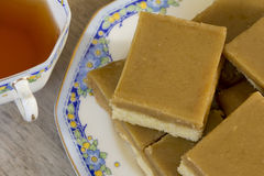 Ginger Slice with Tea Royalty Free Stock Photos