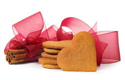 Ginger snap and cinnamon stock photography