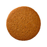 Ginger Snap Cookie isolerade Arkivbild