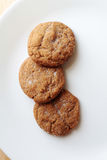 Ginger Snap cookies on plate Royalty Free Stock Image