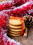 Ginger snaps cookies Stock Photos