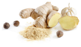 Ginger and spices Royalty Free Stock Photos