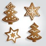 Ginger Stars e árvores Fotos de Stock Royalty Free