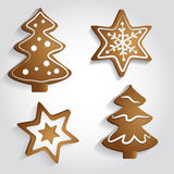 Ginger Stars and Trees Royalty Free Stock Photos