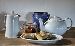 Ginger still life Royalty Free Stock Photography