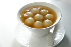 Ginger Sweet glutinous dumpling. Ginger sugarcane glutinous dumpling soup Royalty Free Stock Images
