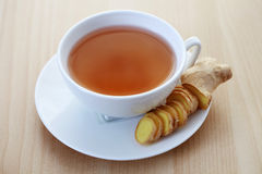 Ginger tea. Cup of ginger tea - food and drink royalty free stock photography