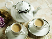 Ginger tea. Classic indian ginger tea served for two stock image
