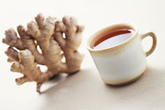 Ginger tea. Cup of ginger tea - tea time stock image
