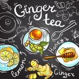 Ginger Tea Stock Afbeeldingen