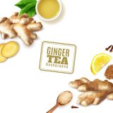Ginger Tea Background illustrazione di stock