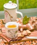 Ginger Tea Cup Indicates Drinks würzte und Erfrischung lizenzfreie stockfotografie