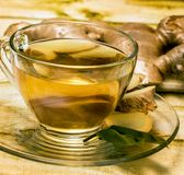 Ginger Tea Cup Indicates Refreshment que refresca e temperado fotografia de stock