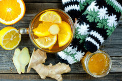Ginger tea with honey Stock Image