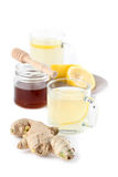 Ginger tea with honey and lemon Royalty Free Stock Image